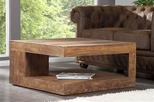 Table Basse Carrée En Bois : table basse carr e en bois massif table basse table ~ Teatrodelosmanantiales.com Idées de Décoration
