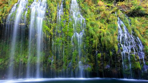 weiss faellt california wasserfaelle fluesse lagune laub