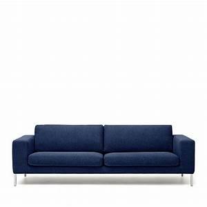 Canapé 3 Places : canap 3 places tissu et m tal biki by modalto drawer ~ Louise-bijoux.com Idées de Décoration
