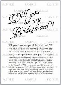 will you be my bridesmaid ideas on pinterest be my With letter to my bridesmaid