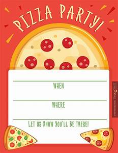 pizza party invitations party invitations templates With pizza party flyer template free