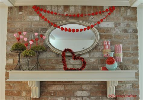 valentines day mantel valentine s day mantel decorations clumsy crafter