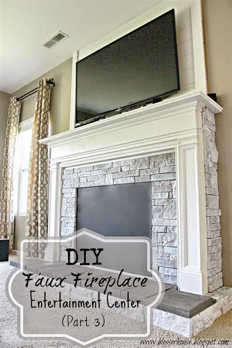 build fireplace mantel diy faux fireplace for 600 the big reveal bless