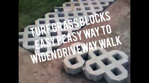 How to Install Turf Grass Block Paving Stones for Driveway