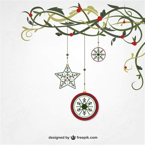 hanging christmas ornaments vector free download