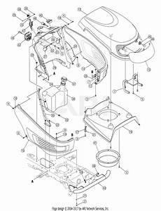 Mtd 13ar606p730  2005  Parts Diagram For Hood