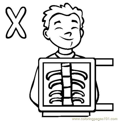 xray coloring page  alphabets coloring pages