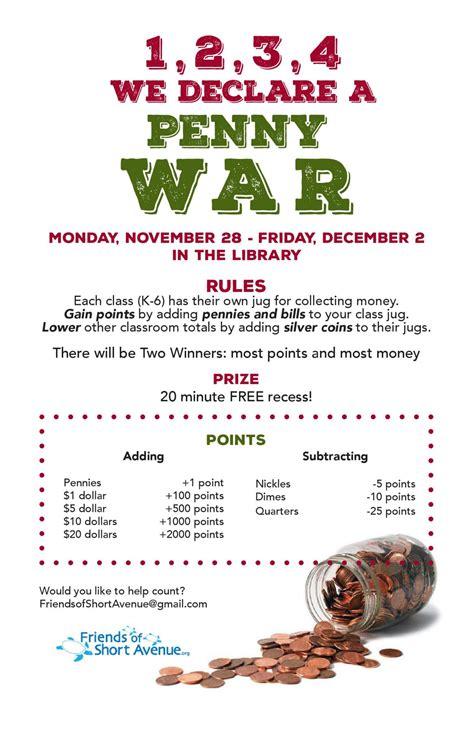 penny wars pta fundraising fundraising activities easy