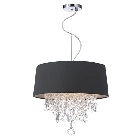 decorative contemporary ceiling pendant in grey w