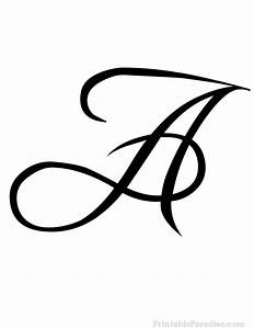 Printable Letter A in Cursive Writing   Craft ideas to try ...
