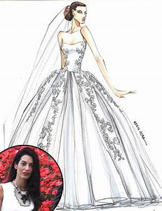 designer sketches of amal alamuddin39s dream wedding dress With dream wedding dress maker