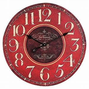 Oversized wall clock red target for Large wall clocks target