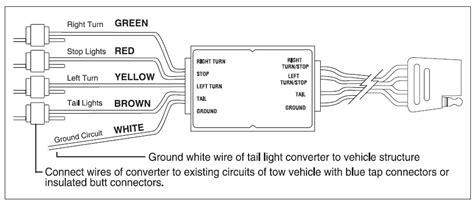 Trailer Wiring Converter Diagram by Trailer Wiring Converter Wiring Diagrams List
