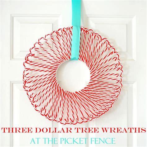 dollar tree wreaths   picket fence