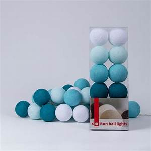 Cotton Balls Lichterkette : cotton ball lights lichtslinger aqua 20 cotton balls ~ Sanjose-hotels-ca.com Haus und Dekorationen