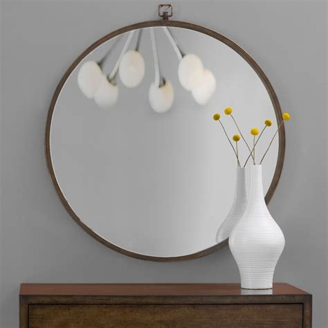 mirror round wall street oversized gold mirrors minerva taylor langley accent canada wayfair