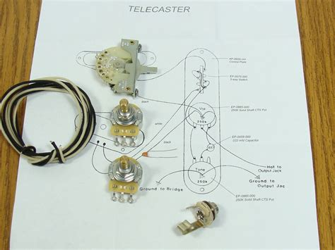 New Tele Pots Switch Wiring Kit For Fender Telecaster