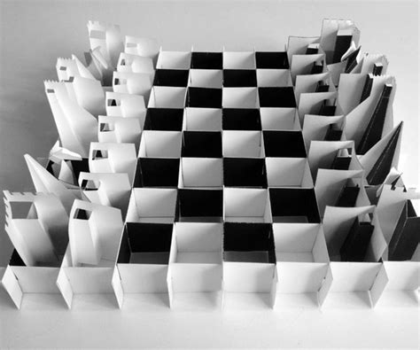 printable paper chess set folds flat  travel