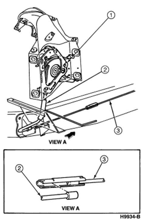service manual   replace front parking brake cable