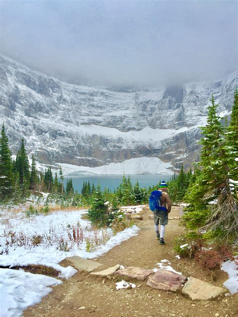 Fall Hiking In Glacier National Park Iceberg Lake