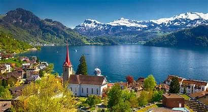 Lucerne Lake Lakes Switzerland Swiss Keindahan Must