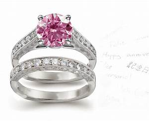 Vintage antique modern contemporary designer jewelry for Pink diamond wedding rings