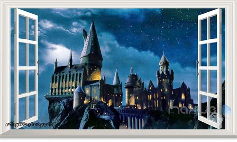 xcm harry potter hogwarts castle  wall decal