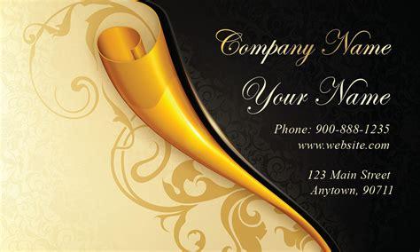gold paper wedding business card design