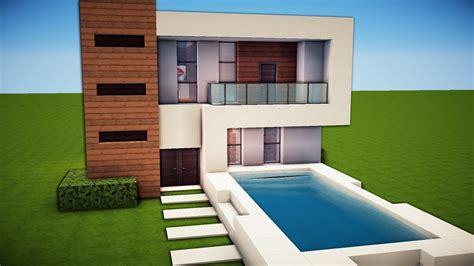 minecraft simple easy modern house tutorial