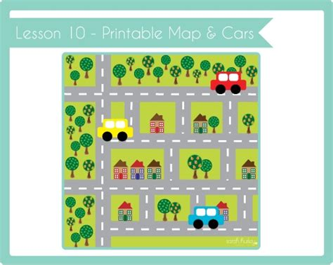 crafty kids academy lesson  printable road map cars