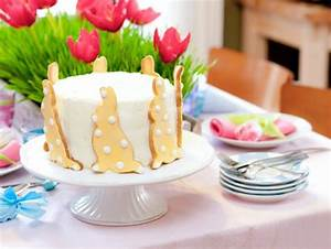 easter table cake stand cookie bunny shaped cookies decor