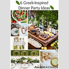 Greek Inspired Dinner Party Ideas  Amidst The Chaos
