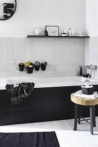 best 25 black and white bathroom ideas ideas on pinterest With salle de bain noire et blanche