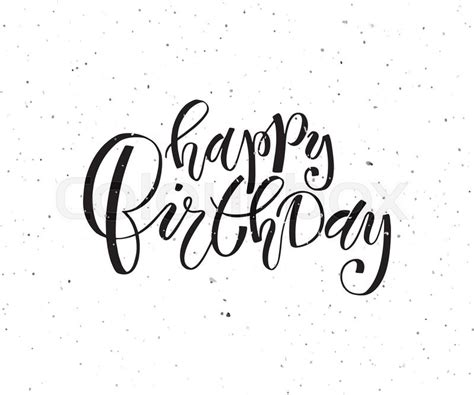 hand sketched happy birthday text as birthday logotype badge and icon happy birthday postcard