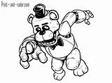 Freddy Coloring Pages Golden Fnaf Printable Print Getcolorings sketch template