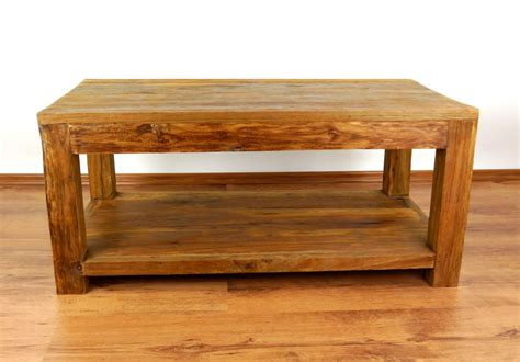 reclaimed teak wood coffee table rustic design handmade