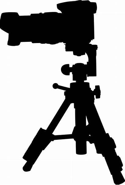 Camera Silhouette Tripod Vector Clipart Transparent Vectors