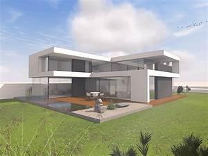 Moderne Innenarchitektur Einfamilienhaus : modernes haus im bauhausstil massivhaus wohnhaus ~ Lizthompson.info Haus und Dekorationen