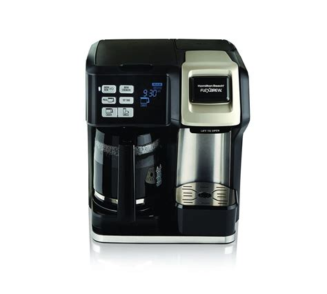 I used to taste at least two cups of coffee every day but i could not prepare a tasty coffee. Hamilton Beach Flexbrew 2-Way Brewer Programmable Coffee ...
