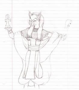 Bastet Sketch by EgyptianDragon1 on DeviantArt