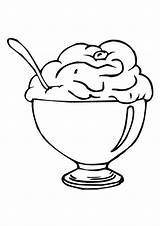 Cream Ice Sundae Coloring Cartoon Clipart Cup Clip Library sketch template