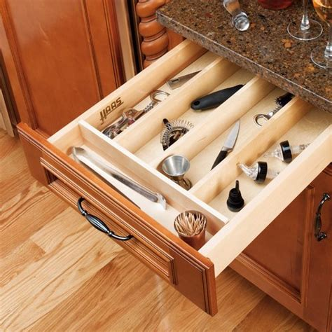 kitchen drawer organizer wood rev a shelf utility tray 18 1 2 quot w wood 4wut 1 4724