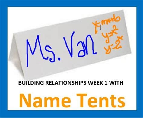 Week 1 Day 1  Name Tents With Feedback  Sara Vanderwerf