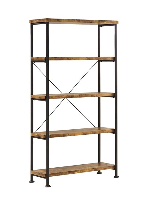 Small Metal Bookcase by Coaster Barritt 801542 Small Wood And Metal Open Bookcase