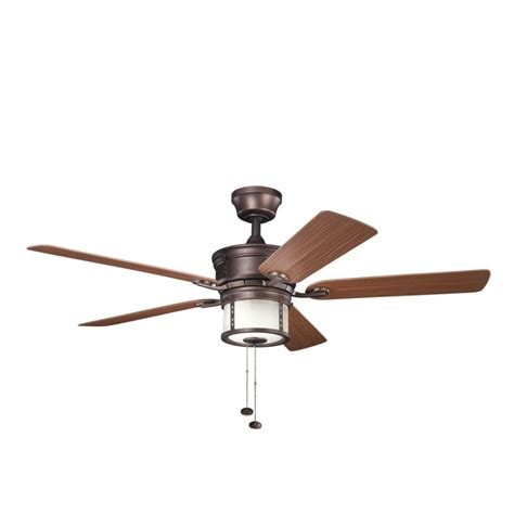 Indoor Ceiling Fans At Menards by Kichler 310105wcp Weathered Copper Powder Coat W Medium