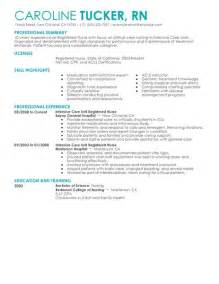Best Icu Rn Resume by Best Intensive Care Unit Registered Resume Exle Livecareer