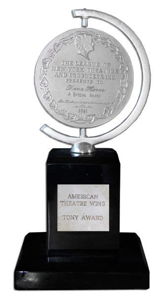 The Legendary Lena Horne's Well-Deserved Tony Award