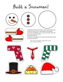smarty printables printable snowman and snow arts and craft for