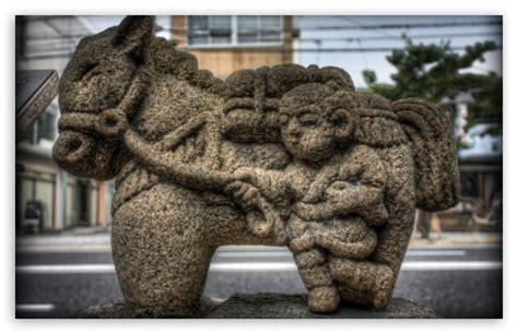 man   horse statue  hd desktop wallpaper