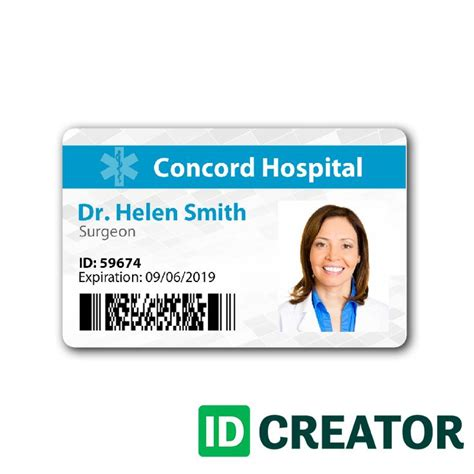 The Ideas Hospital Id Badge Template Trend Pin By Idcreator On Healthcare Hospital Badge